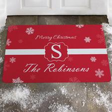 Créez votre propre paillasson flocon de neige joyeux Noël