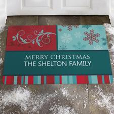 Créez votre propre paillasson voeux colorés, joyeux Noël
