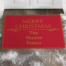 Créez votre propre paillasson éclat de famille, joyeux Noël