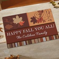 Créez votre propre paillasson amusement d'automne