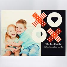 Carte de voeux impression personnalisée partager l'amour