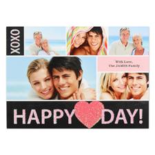 Carte Saint Valentin photo personnalisée vraies paillettes amour radieux, plate 12,7 x 17,78 cm