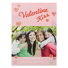 Carte photo Saint-Valentin personnalisée paillettes laisser l'amour grandir