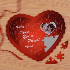 Puzzle en forme de coeur personnalisé mon coeur