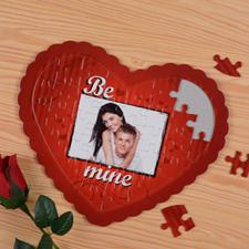 Puzzle en forme de coeur personnalisé Sois le mien