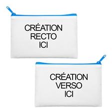 Custom Full Color Print 6X9 Cosmetic Bag Blue Zipper (2 Side Different Image)