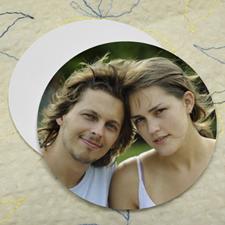 Dessous de verre personnalisé rond (lot de 12), photo de mariage
