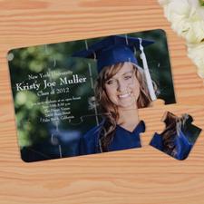 Invitation puzzle personnalisée remise des diplôme
