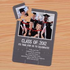Invitation puzzle personnalisée classe remise des diplôme