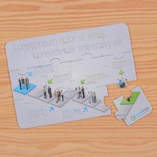Invitation puzzle personnalisée entreprise