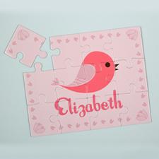 Puzzle personnalisé pour enfants oiseau
