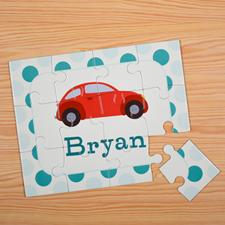 Puzzle pour enfants personnalisé voiture