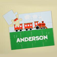 Puzzle pour enfants personnalisé train