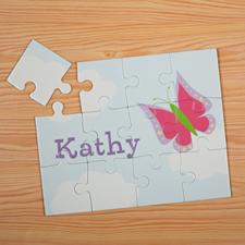 Puzzle pour enfants personnalisé papillon