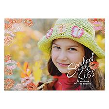 Créez votre propre carte photo Saint-Valentin personnalisée tout baiser 12,7 x 17,78 cm cartes d'annonce