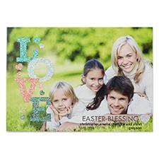 Carte photo de Pâques personnalisée amour paillettes