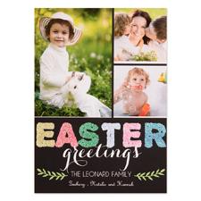 Carte de Pâques personnalisée paillettes bénédiction amour 12,7 x 17,78 cm