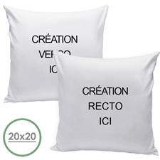 Coussin oreiller conception personnalisée recto et verso (sans insert) 45,72 x 45,72 cm