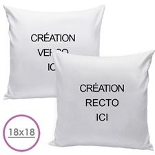 Coussin oreiller conception personnalisée recto et verso (sans insert) 50,8 x 50,8 cm