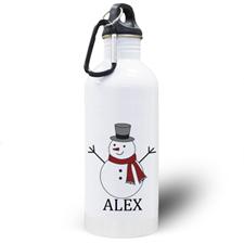 Gourde personnalisée photo bonhomme de neige