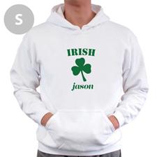 Personnalisé irlandais, sweatshirt à capuche blanc