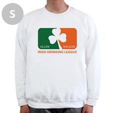 Créez votre propre sweat-shirt blanc, ligue de beuverie Irlandaise