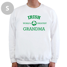 Créez votre propre sweat-shirt blanc, mamie irlandaise