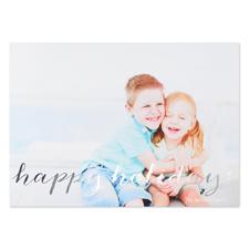 Carte de Noël photo personnalisée écriture feuille argentée, 12,7 x 17,78 cm