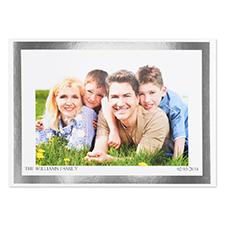 Créez votre propre carte photo personnalisée cadre feuille d'argent, 12,7 x 17,78 cm