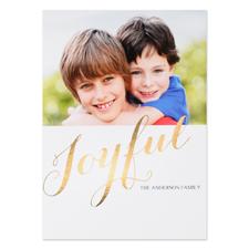 Créez votre propre carte photo personnalisée joyeux feuille d'or