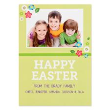 Créez votre propre carte photo personnalisée petites fleurs de Pâques 12,7 x 17,78 cm