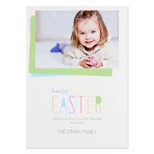 Créez votre propre carte photo personnalisée Joyeuse Pâques 12,7 x 17,78 cm