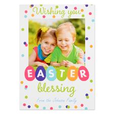 Créez votre propre carte photo personnalisée bénédiction de Pâques 12,7 x 17,78 cm