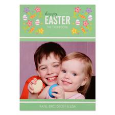 Créez votre propre carte photo personnalisée confetti de Pâques 12,7 x 17,78 cm