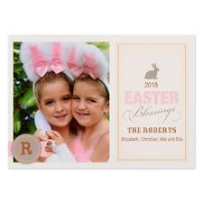 Créez votre propre carte de Pâques photo personnalisée lapin bénédiction 12,7 x 17,78 cm
