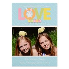 Créez votre propre carte photo personnalisée amour de Pâques 12,7 x 17,78 cm