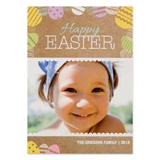 Créez votre propre carte photo personnalisée oeuf de Pâques 12,7 x 17,78 cm