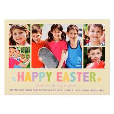 Créez votre propre carte photo personnalisée cadre de Pâques 12,7 x 17,78 cm