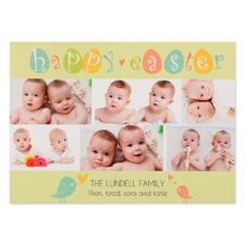 Créez votre propre carte photo personnalisée poussins de Pâques 12,7 x 17,78 cm