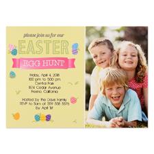 Créez votre propre carte photo personnalisée chasse de Pâques 12,7 x 17,78 cm