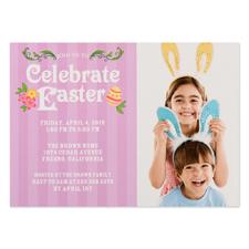 Créez votre propre carte photo personnalisée célébrer Pâques 12,7 x 17,78 cm