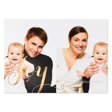 Créez vos propres cartes d'invitation photo personnalisées feuille d'or bonheur deux collage