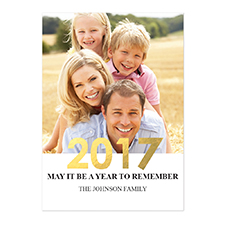 Créez vos propres cartes d'invitation Nouvel An photo personnalisées feuille d'or