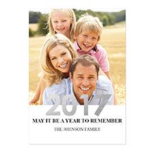 Créez vos propres cartes d'invitation de Nouvel An photo personnalisées feuille d'argent