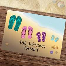 Créez votre propre paillasson famille d'été
