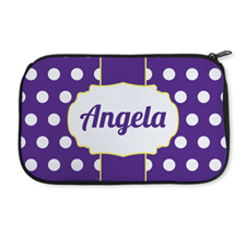 Personalized Neoprene Large Dots Cosmetic Bag (6 X 10 Inch)