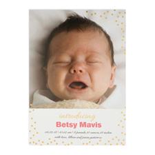Créez votre propre annonce de naissance personnalisée introduisant feuille d'or, cartes d'invitation 12,7 x 17,78 cm