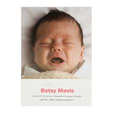 Créez votre propre annonce de naissance personnalisée introduisant feuille d'argent, cartes d'invitation 12,7 x 17,78 cm