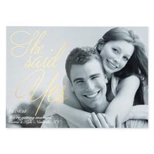 Créez vos propres cartes d'invitation annonce de mariage personnalisées feuille d'or peinte
