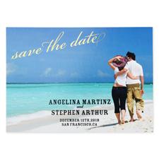 Créez vos propres cartes d'invitation réservez la date pour mariage personnalisées ornement feuille d'or